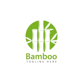 Conception de modèle de logo en bambou