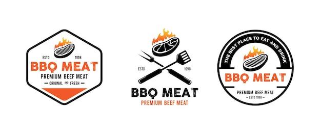 Conception de modèle de logo de barbecue