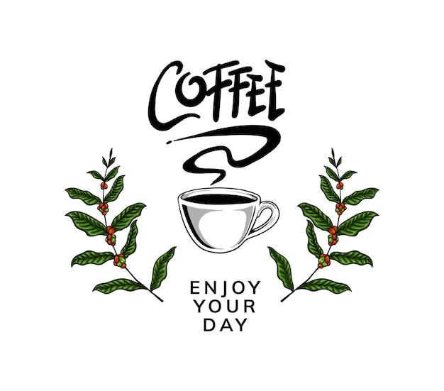 Conception de modèle de logo de café