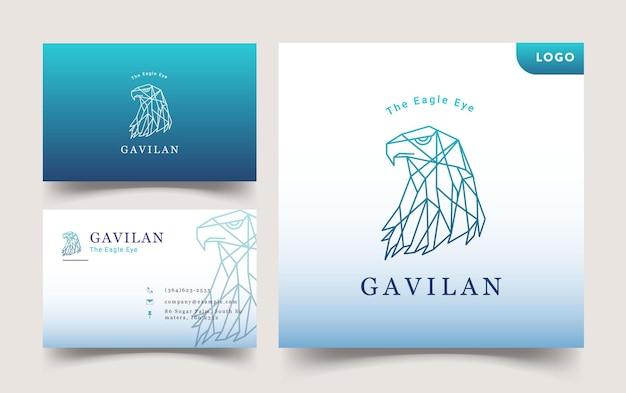 Conception de modèle de logo et carte de visite eagle