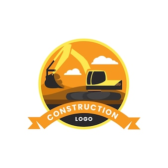 Conception de modèle de logo de construction
