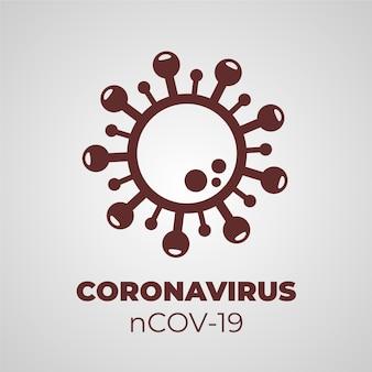 Conception de modèle de logo de coronavirus