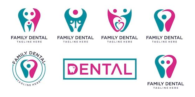 Conception de modèle de logo dentaire
