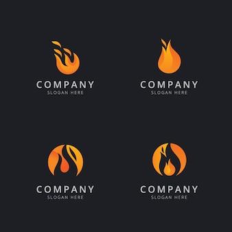 Conception de modèle de logo de feu