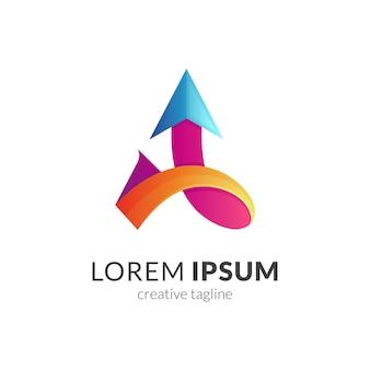 Conception de modèle de logo flèche abstraite isolée