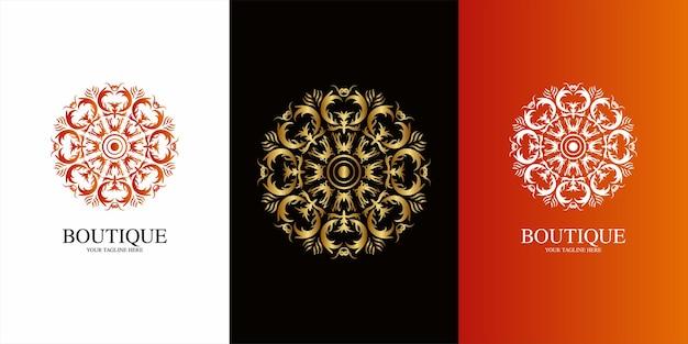 Conception de modèle de logo mandala ou ornement.