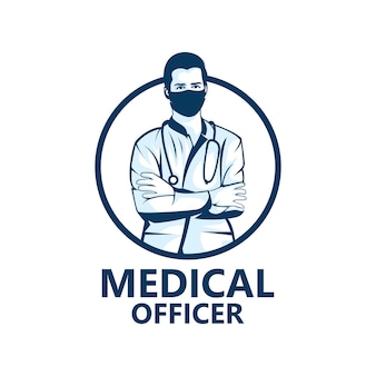 Conception de modèle de logo de médecin