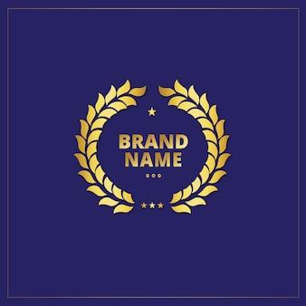 Conception de modèle de logo d'or
