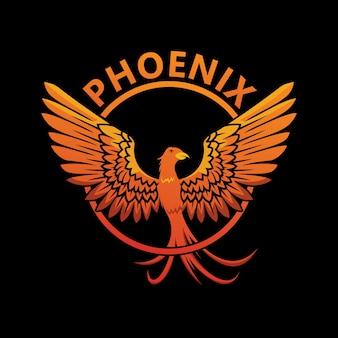 Conception de modèle de logo phoenix