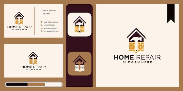 Conception de modèle de logo de rénovation domiciliaire familiale logo d'entreprise de rénovation immobilière de luxe