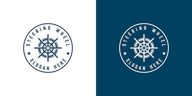 Conception de modèle de logo de roue de navire