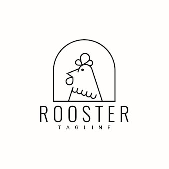 Conception de modèle de logo simple coq