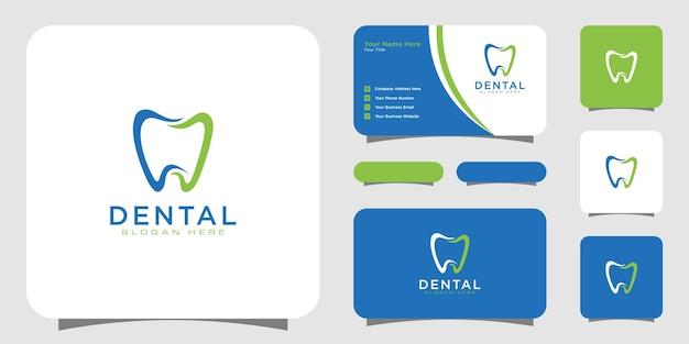 Conception de modèle de logo de soins dentaires