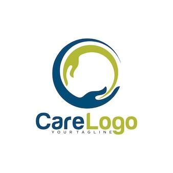 Conception de modèle de logo de soins des mains