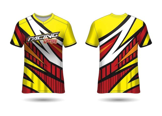 Conception de modèle de maillot de sport de course