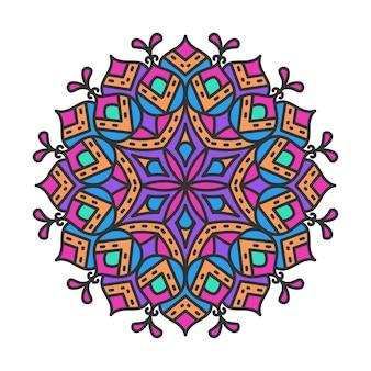 Conception de modèle de mandala décoratif ornemental coloré. élément décoratif rond