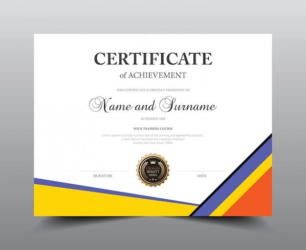 Conception de modèle de mise en page de certificat. luxe et style moderne.