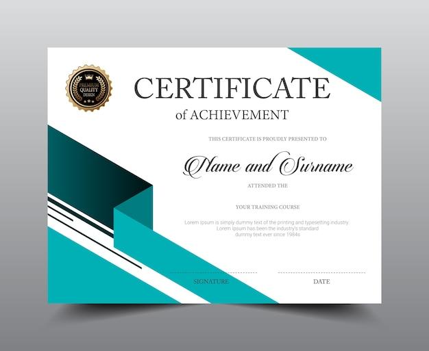 Conception de modèle de mise en page de certificat