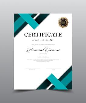 Conception de modèle de mise en page de certificat.