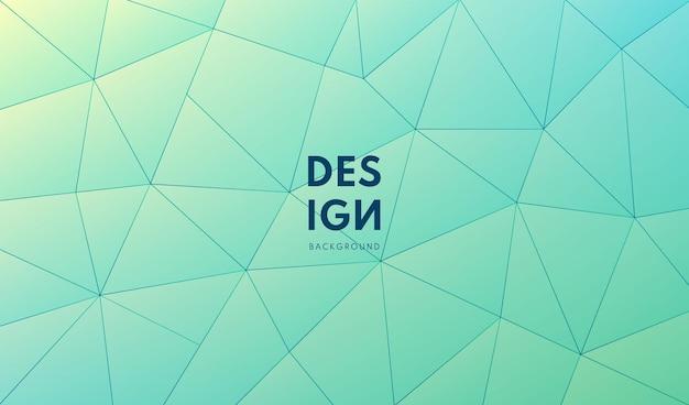 Conception de modèle moderne polygonale dégradé vert et bleu abstrait technologie et style futuriste