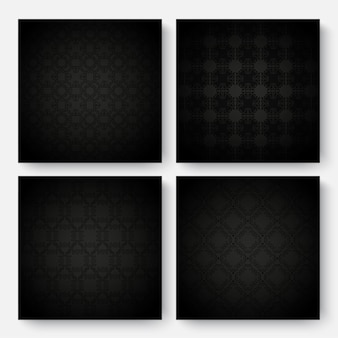 Conception de modèle d'ornement sombre