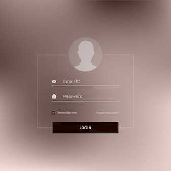 Conception de modèle de page de connexion de site web ou d'application