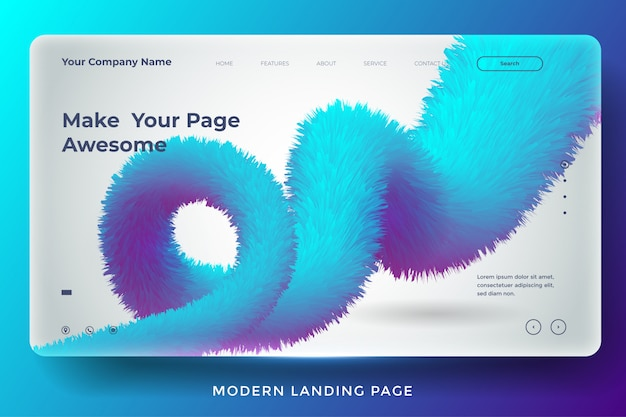 Conception de modèle de page de destination abstraite moderne