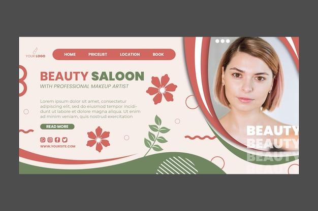 Conception de modèle de page de destination de salon de beauté