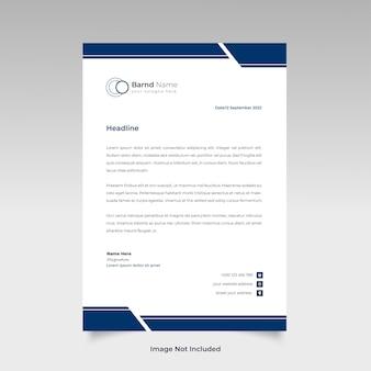 Conception de modèle de papier à en-tête créatif professionnel pour votre entreprise