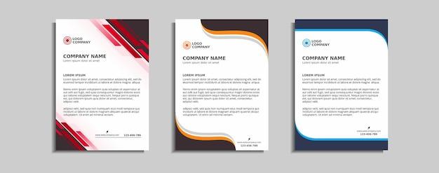 Conception de modèle de papier à en-tête d'entreprise moderne