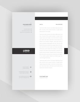Conception de modèle de papier à en-tête d'entreprise de style minimal.