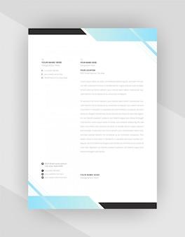 Conception de modèle de papier à en-tête de style d'entreprise
