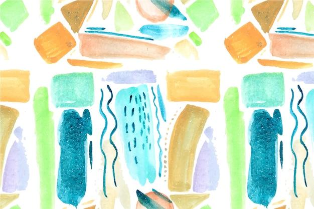 Conception De Modèle De Peinture Abstraite Peinte à La Main Vecteur gratuit