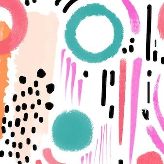 Conception de modèle de peinture abstraite peinte à la main