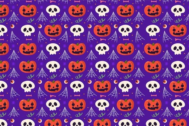 Conception de modèle plat halloween