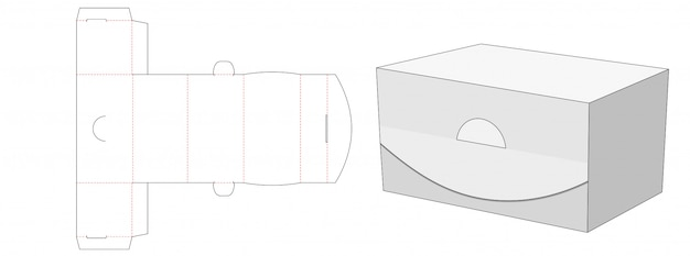 Conception de modèle prédécoupé de boîte d'emballage sans colle