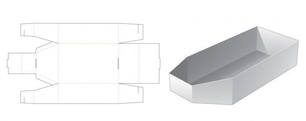 Conception de modèle prédécoupé de boîte d'emballage