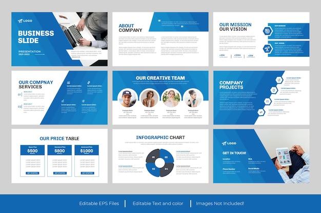 Conception de modèle de présentation de diapositive d'entreprise