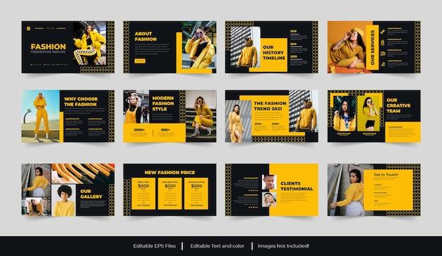 Conception de modèle de présentation de diapositives minimales de mode