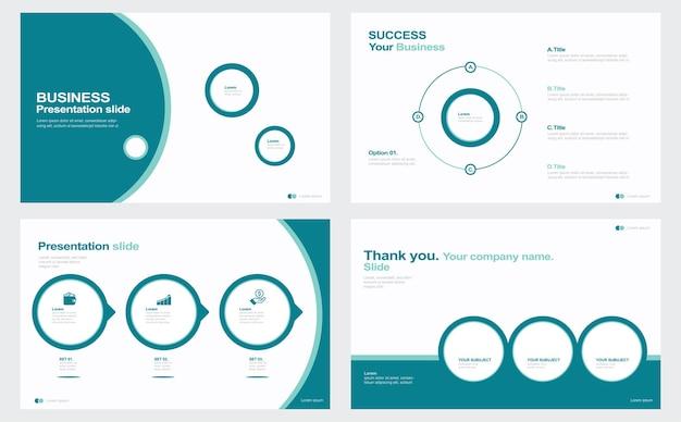 Conception de modèle de présentation avec illustration stock infographique brochure de mouvement flou abstrait