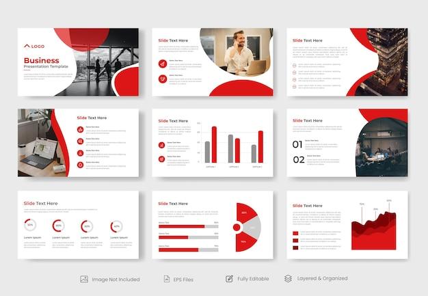 Conception de modèle de présentation powerpoint d'entreprise