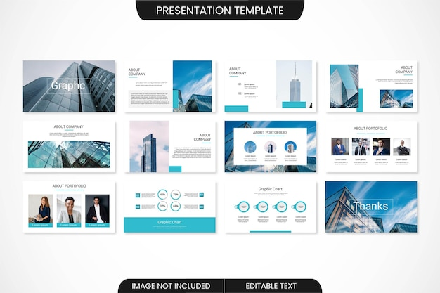 Conception de modèle de présentation powerpoint minimale d'entreprise