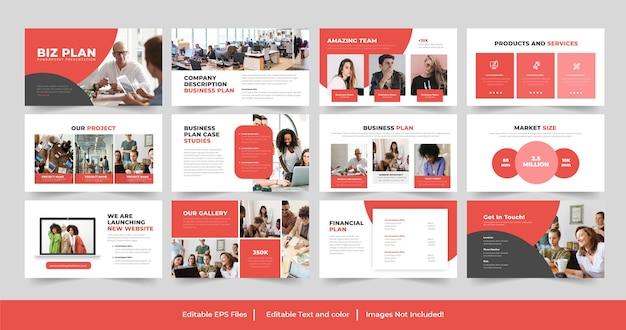 Conception de modèle de présentation powerpoint de plan d'affaires d'entreprise
