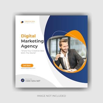 Conception de modèle de publication de médias sociaux de marketing numérique vecteur premium