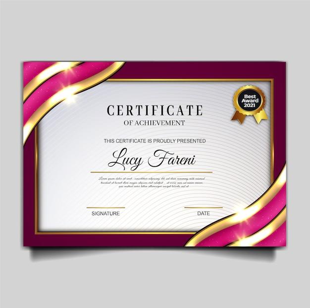 Conception de modèle de réalisation de certificat élégant