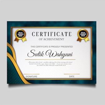 Conception de modèle de réussite de certificat élégant
