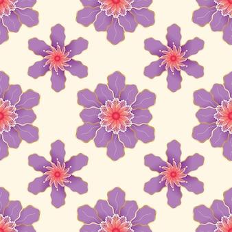 Conception de modèle sans couture de fleurs colorées.