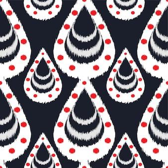 Conception de modèle sans couture d'ikat pour le tissu