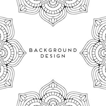 Conception de modèle sans couture de luxe mandala ornemental