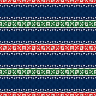 Conception de modèle sans couture de pull tricoté de vacances de noël. imitation de texture de tricot de laine.